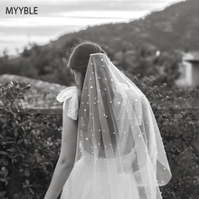 Beautiful Long Pearl Veil One Layer 3M Bridal Veil Cathedral 3 Meters Ivory Wedding Veil with PearlsMYYBL 2020 Bride Accessories