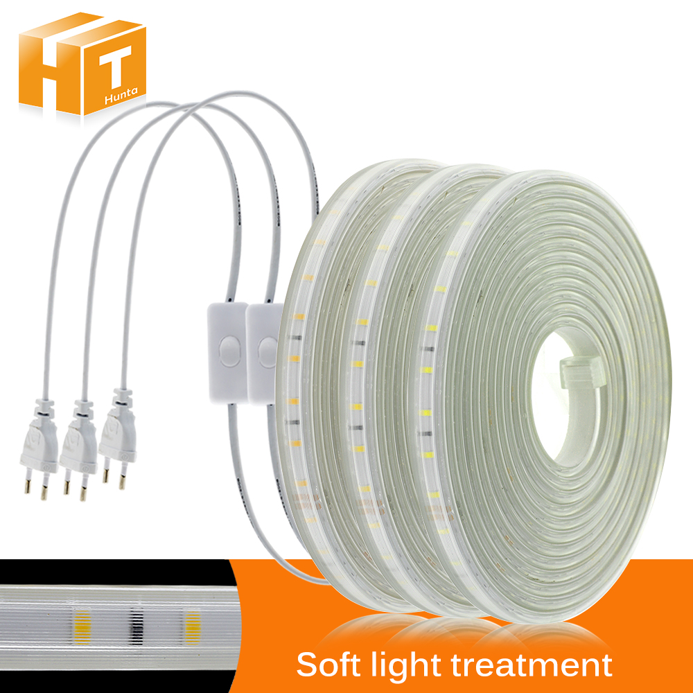 High Brightness 220V LED Strip Soft Lighting Not Dazzling Flexible LED Light High Safety Waterproof Outdoor Use LED Strip.