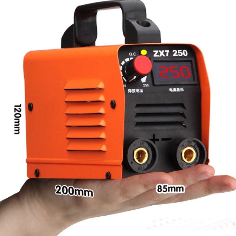Seria zx7 falownik dc spawacz łukowy 220V IGBT spawarka mma 250 Amp dla początkujących w domu lekki wydajny