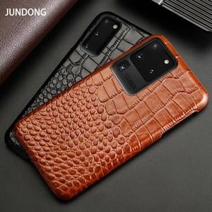 Image 2 - Caixa Do Telefone de couro Para Samsung S20 Ultra S10 S10e S9 S8 S7 Nota 8 9 10 Lite 20 A20 A30 a50 A51 A70 A71 A8 Plus Capa Crocodilo