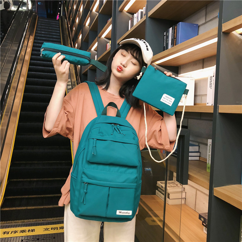 3 Piece Set Campus High School Bags For Teenage Girls Oxford Backpack Bag School Women Bookbags Teen Student Schoolbag Big
