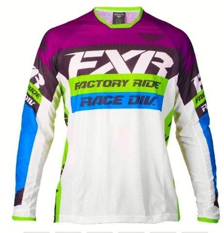 DH Motocross MX FXR Long Sleeve MTB Jersey 4
