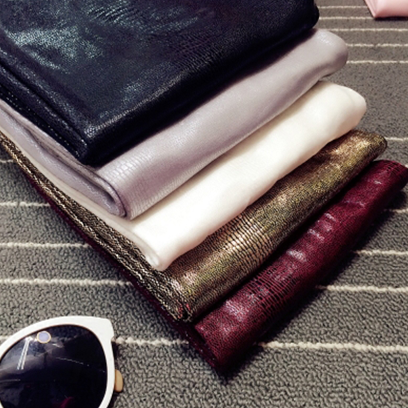 Tide Autumn And Winter Matte Para  Leggings Stickers Snakeskin PU Imitation Leather Plus Velvet Thickening Pencil Pant Women Ins