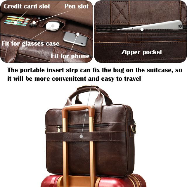 Westal masculino saco de couro maleta sacos de escritório para homens saco de couro genuíno do homem sacos de portátil masculino bolsa 3