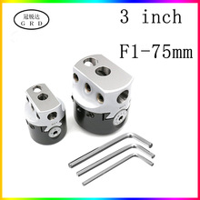 3inch 75mm F1 Type Boring Head 18mm Lathe Boring Bar Milling Holder For MT2 MT3 R8 Shank Milling Machine Tools + Hex Wrenche