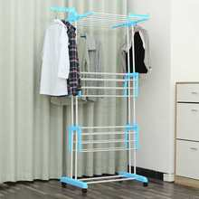 Multi-Function Clothes Dryer Three-layer Coat Rack Removable Floor Standing Hanger Clothing Drying Rack Clothes Hanger