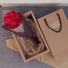 Фестиваль мыло цветок Креативный красивый ручной работы мыло роза цветок коробка твердый переплет DIY подарки на день рождения День матери День святого Валентина
