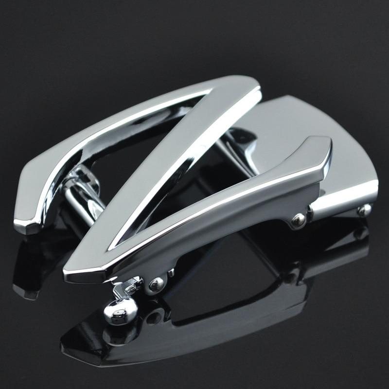 Men's Belt Head Belt Buckle,Leisure Belt Head Business Accessories Automatic Buckle Width Black 3.5CM Luxury Fashion LY137-690