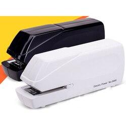 Электрический бумажный автоматический степлер для документов, 20 листов, скрепляющий скребок, машина 24/6 26/6, школьные офисные канцелярские п...