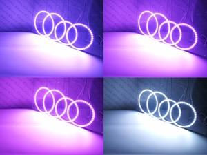 Image 5 - RF remote Bluetooth APP Multi Color Ultra bright RGB LED Angel Eyes kit For FIAT PUNTO 188 Mk2 2003   ON Facelift headlight