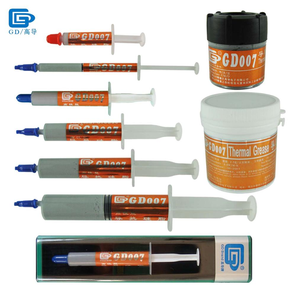 GD007 Thermal Conductive Paste Grease Silicone Heat Sink Compound High End Gray CN30 CN150 BX3 SSY1 SY1 SY3 SY7 SY15 SY30