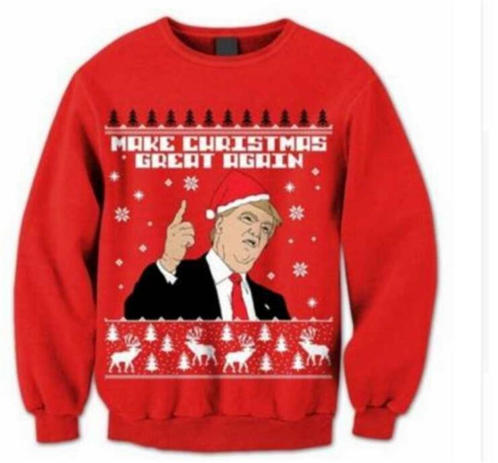 2019 Xmas Donald Trump Ugly Make Christmas Great Again Winter Sweater Women Funny Gift Womens Mens Unisex Cosplay Pullover