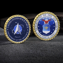 FLC Commemorative Coin Double-sided Uv Printing Crypto Coins Collection Metal Paint Badge Golden Side Universe Gift