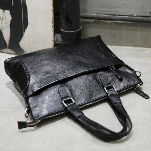 Men's Black Handbag Shoulder Messenger Bag Korean Simple Fashion Business Solid Color Briefcase