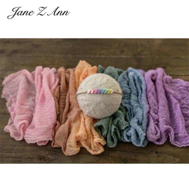 Jane Z Ann Newborn photography rainbow colored cotton hemp bubble yarn fold photo wrapping props