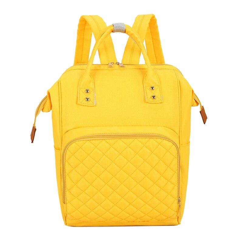 Многофункциональные сумки для мам, модный детский рюкзак, сумка для подгузников, сумка для новорожденных, органайзер для подгузников, переносные рюкзаки для подгузников, сумки для подгузников - Цвет: Yellow