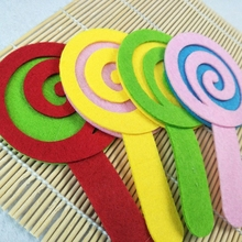 Stickers-Decoration Package DIY Non-Woven-Felt Cute Lollipop Gourd Manual Kindergarten