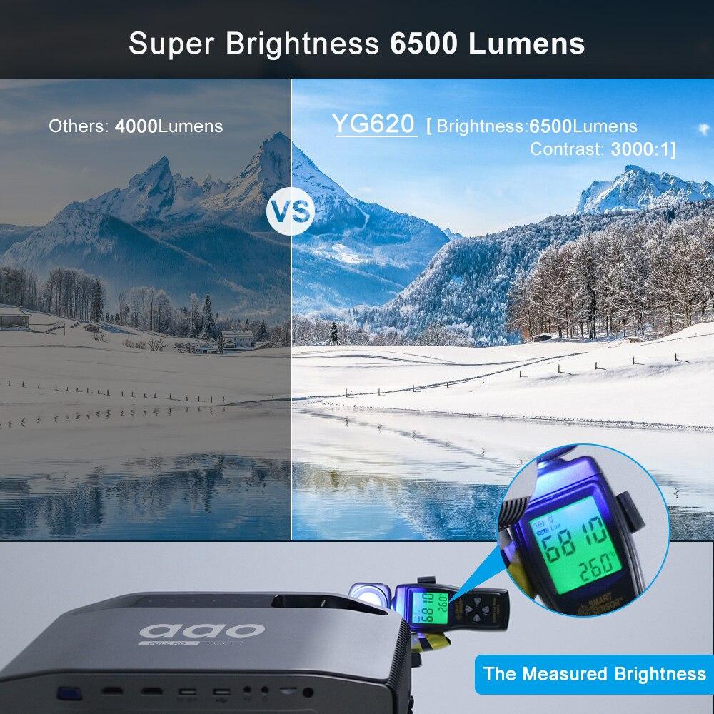AAO YG620 Full HD Projektor Native 1920x1080 P 3D Proyector YG621 Drahtlose WiFi Multi Bildschirm HDMI VGA USB Mini Home Theater - 4