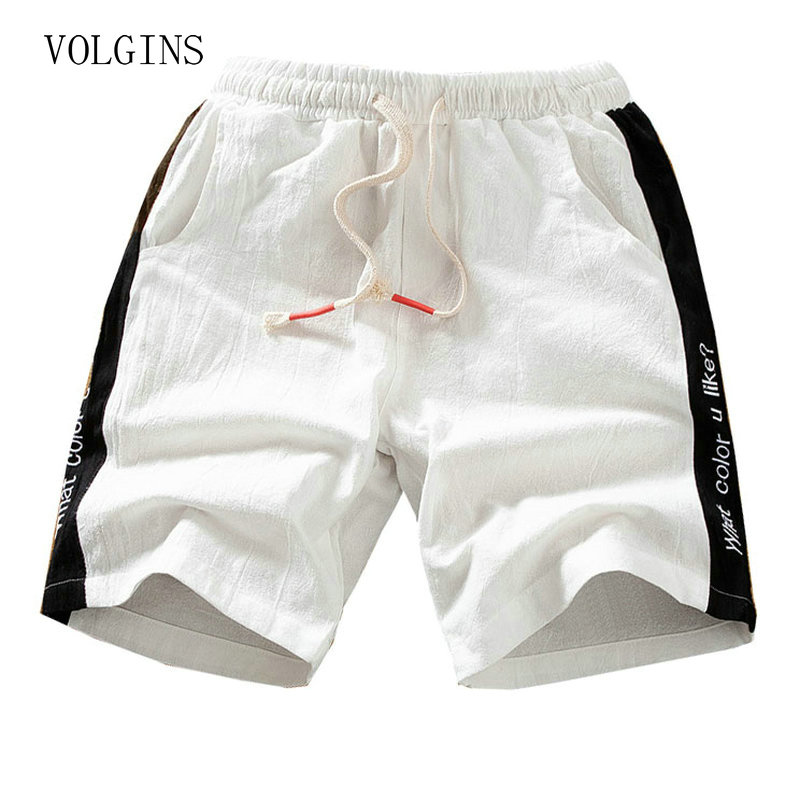 Streetwear Mens Shorts 2020 Summer Clothing Casual Cargo Shorts Cotton Linen Male Beach Short Pants Mens Plus Size Boardshorts