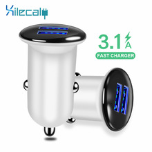 QC3.0 Mini USB Car Charger For Mobile Phone Tablet GPS 3.1A Fast Car-Charger 2 Port Adapter in