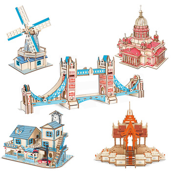 Wood 3d Toys Wooden Puzzle Games Construction Kit Building Chinese Woodcraft Assembly Wood Kit Desk Decoration for Children Kids 3d dragon woodcraft construction kit diy dragon wooden puzzle game assembly toy gift for children adult children