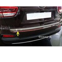 For Kia Sorento L 2015 2016 2017 Stainless Steel Rear Back Door License Tailgate Bumper Frame Plate Trim Lamp Trunk 1pcs