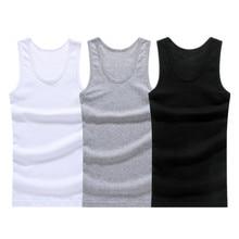 3Pcs/lot Man's Cotton Solid Seamless Underwear Brand Clothing Mens Sleeveless Tank Vest Comfortable Undershirt Mens Undershirts