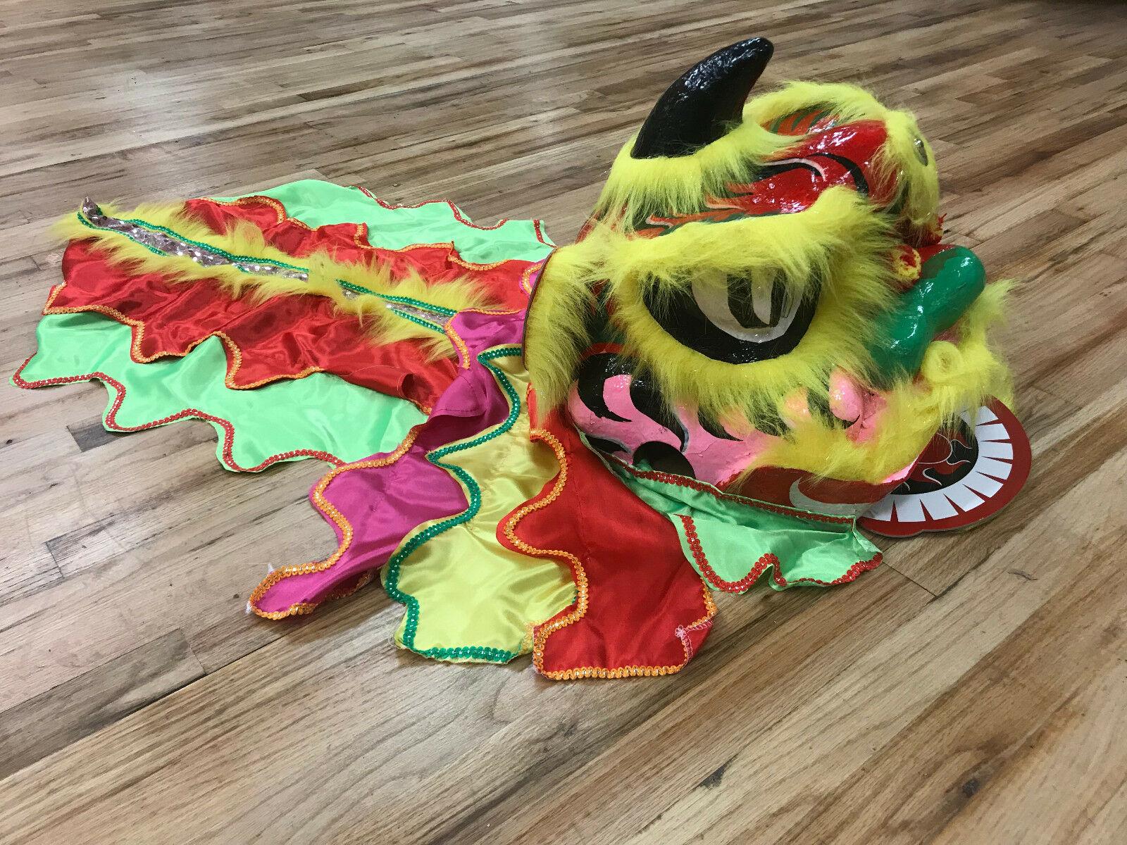 Costume de danse de Lion coloré Halloween enfants laine mascotte chinoise enfant robe cadeau d'art populaire fait à la main personnage de dessin animé Cosplay