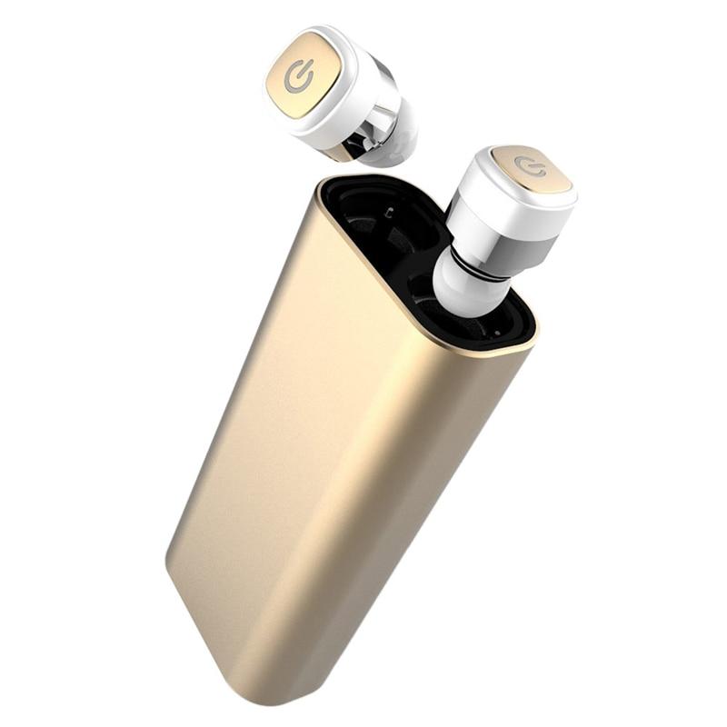 Mini Bluetooth Earphone Wireless Earbuds Stereo Ipx7 Waterproof Sport Headset with Microphone