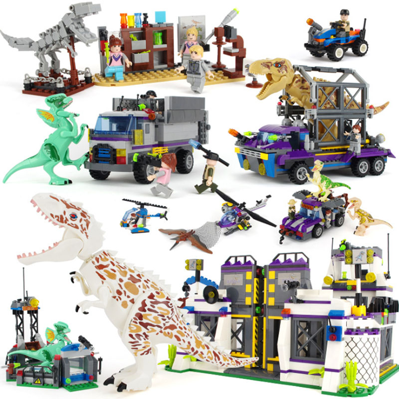 Jurassic World Dinosaurs Sets Blocks Building Tyrannosaurus escaped from the base Pterosaur Model Brick Figures For kids gifts image