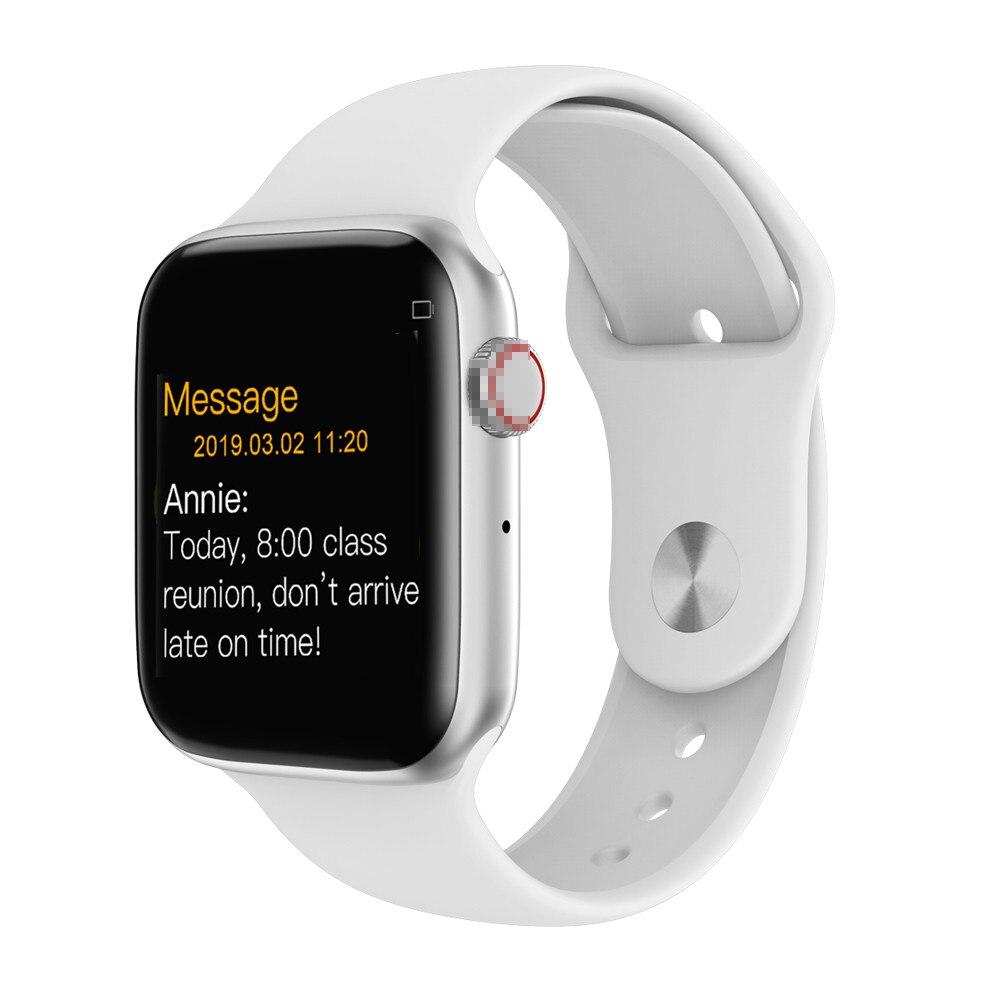 Reloj inteligente de serie 4 Bluetooth 2019 Monitor de ritmo cardíaco reloj inteligente de 44mm para android Apple teléfono reloj inteligente