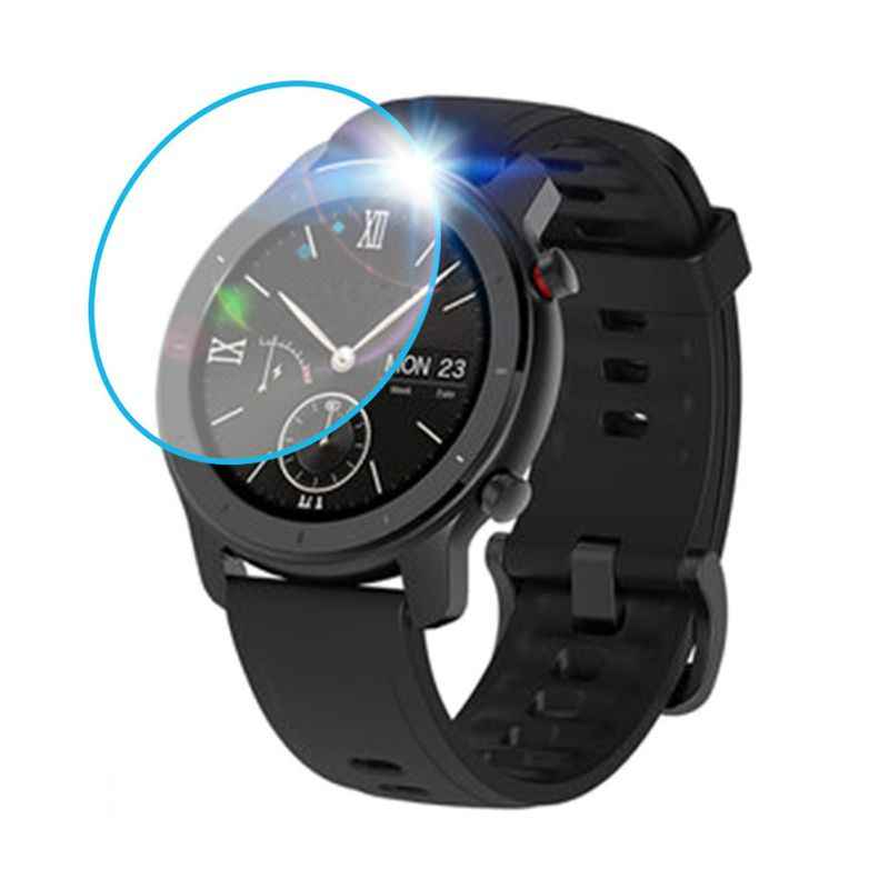 Smart Watch Tempered Glass Screen Protector For Huami AMAZFIT GTR 42/47mm Wristband Glass Protective Film