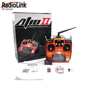 Image 1 - RadioLink AT10 II 2.4 جيجا هرتز 12CH الارسال مع R12DS استقبال PRM 01 الجهد عودة وحدة البطارية ل أجهزة الاستقبال عن بعد الجناح الثابت