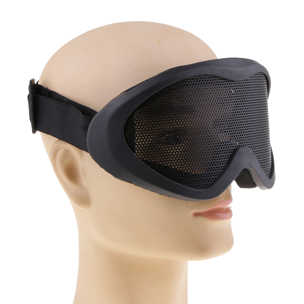 UV400 Steel Mesh Goggles Anti-Wind Anti-Dust Safety Goggle Shooting Protective Eyeguard