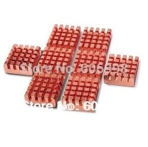 8pcs/lot Pure Copper Heat Sinks For Raspberry Pi 512M B/B+ Version Computer
