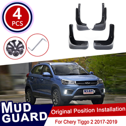 4pcs for Chery Tiggo 2 3X 2017 2018 2019 Mudflaps Mud Flaps Flap Splash Guards Mudguards Car Wheel Fender Front Rear Accessories