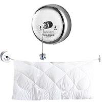 Aço inoxidável retrátil varal lavanderia secador de secagem ao ar livre indoor rack organizador corda do banheiro hotel roupas linha|Varais| |  -