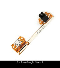 New For Asus Google Nexus 7 ME370T Dock Connector Flex Cable Micro USB Charger Charging Port with Audio Headphone Jack
