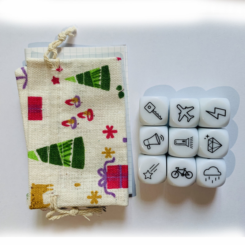 Telling Story Board Game Happy Story Dice/Bag Family Puzzle Game Increase Imagine For Children With Instructions