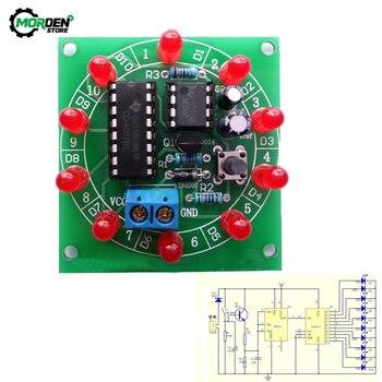 Kit de rueda de la fortuna CD4017 NE555, 3,5-6V, Bricolaje electrónico DIY, producción electrónica, elementos de Suite giratoria de la suerte