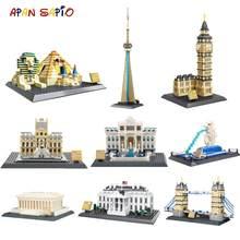 Blocs de construction d'architecture célèbres, modèle de briques de ville classiques du monde, jouets pour enfants, cadeaux compatibles avec les marques