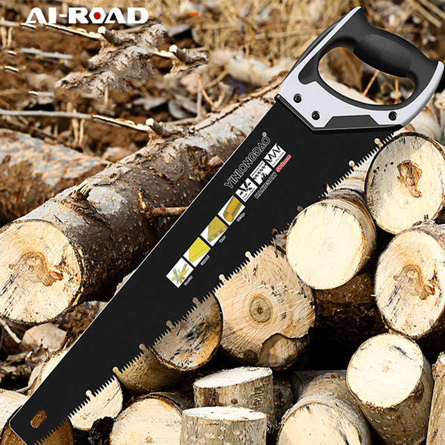 AI-ROAD Bypass Heavy Duty Dry Wood Pruning Saw With Hard Teeth Extra Long Blade Hand Folding Cutting Saw Garden Cutter Tool 1