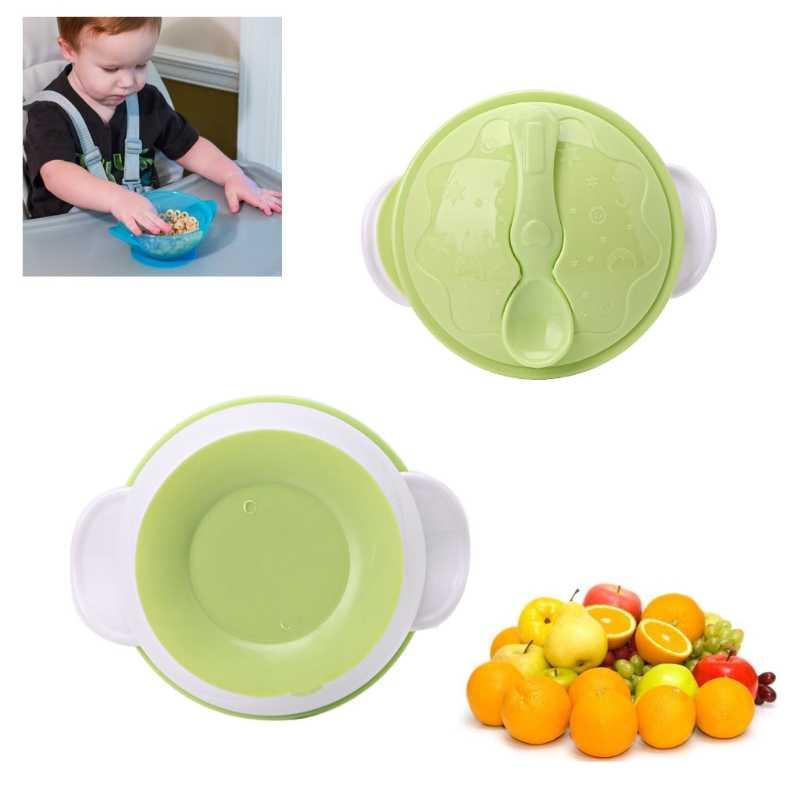 1 סט אופנה בייבי ילדים ילדי יניקה כוס להחליק עמיד כלי שולחן קערה פראיירית