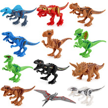 Jurassic dinosaur assembly blocks 12 models of DIY Tyrannosaurus Rex
