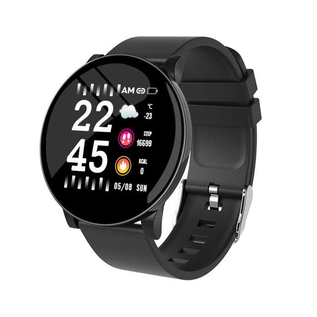 Relógio inteligente pulseira de fitness à prova dwaterproof água rastreador de freqüência cardíaca monitor de pressão arterial esportes