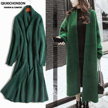 Cardigã feminino de caxemira, casaco de inverno, manga morcego, de malha, grosso, plus size, macio