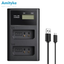LP-E10 Battery Charger LED Dual Camera for Canon EOS FZ100 LP-E5 LPE6 LP-E8 LP-E12 LP-E17 F970 FW50 W126 Digital