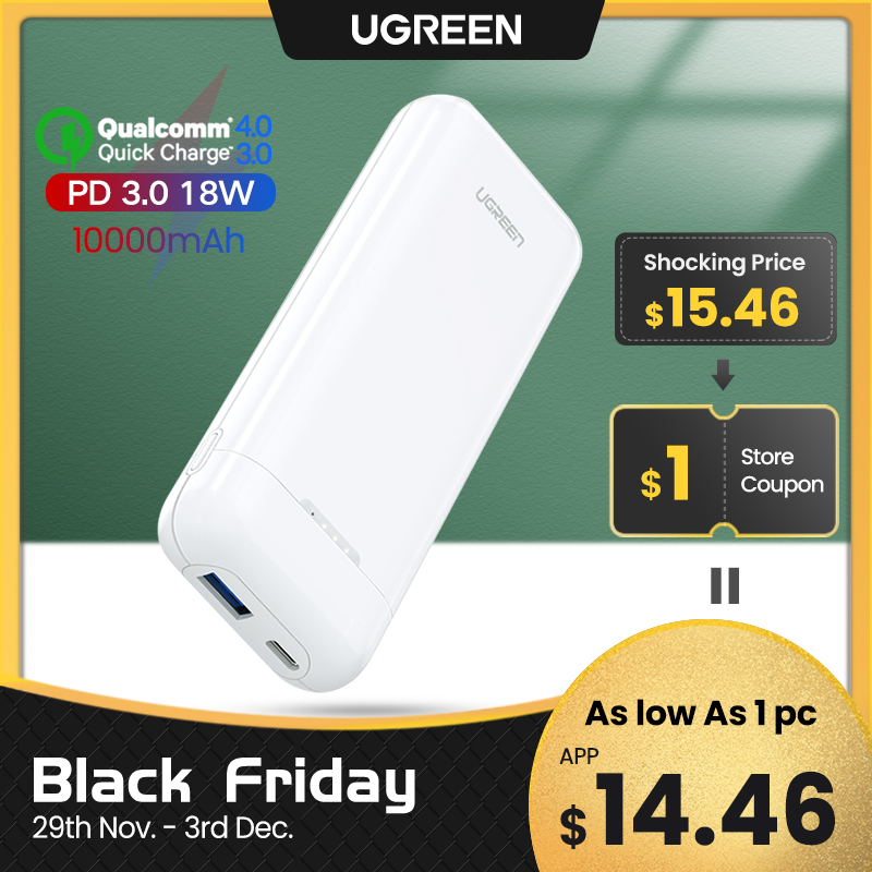 Ugreen Power Bank 10000mAh Portable Charging Quick