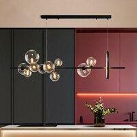 Moderne LED Anhänger lichter Glas Bälle für esszimmer lichter Nordic Anhänger Lampe Dekoration Hause Innen hängen lichter