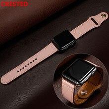 Кожаный ремешок для apple watch pulseira apple watch 5 4 3 band 44 мм/40 мм iwatch band 42 мм/38 мм correa браслет ремешок для часов